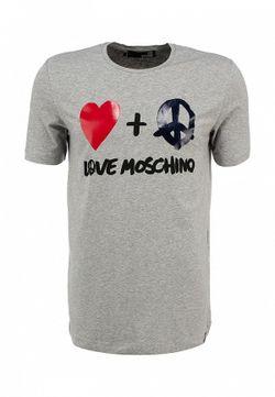 Футболка Love Moschino                                                                                                              серый цвет