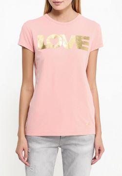 Футболка Love Moschino                                                                                                              розовый цвет