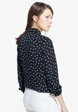 Блуза Mango                                                                                                              черный цвет