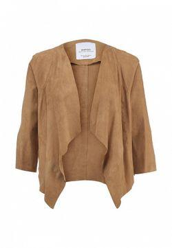 Куртка Кожаная Mango                                                                                                              бежевый цвет