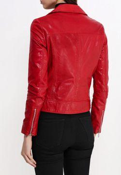 Куртка Кожаная Mango                                                                                                              красный цвет