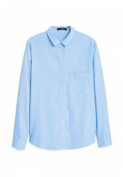 Рубашка Mango                                                                                                              голубой цвет
