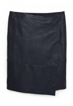 Юбка Кожаная Mango                                                                                                              черный цвет