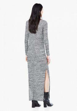 Платье Mango                                                                                                              серый цвет