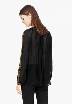 Блуза Mango                                                                                                              чёрный цвет