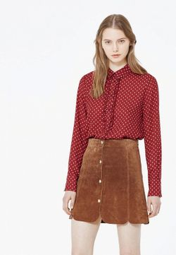 Блуза Mango                                                                                                              красный цвет