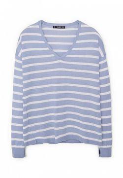 Пуловер Mango                                                                                                              голубой цвет
