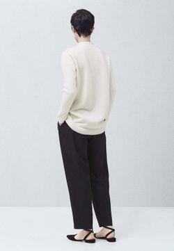 Пуловер Mango                                                                                                              белый цвет