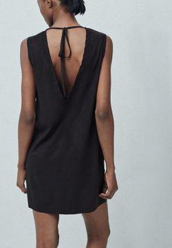 Платье Mango                                                                                                              черный цвет