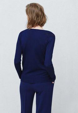 Пуловер Mango                                                                                                              синий цвет