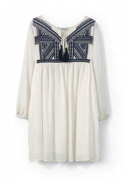 Платье Mango                                                                                                              белый цвет