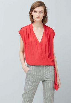 Блуза Mango                                                                                                              розовый цвет