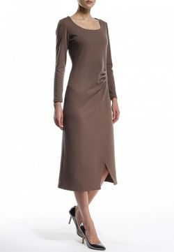Платье MadaM T                                                                                                              коричневый цвет