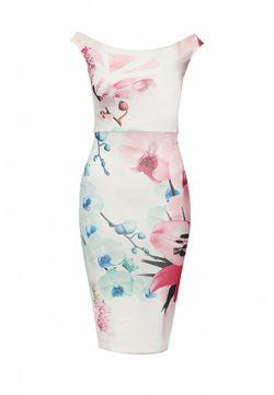 Платье Missi London                                                                                                              белый цвет