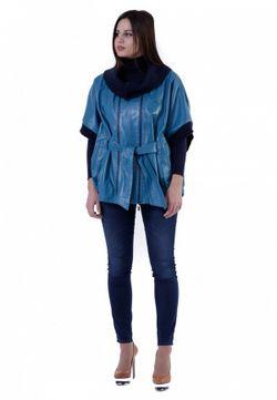 Куртка ALBERTINI COLLEZIONE                                                                                                              Бирюзовый цвет