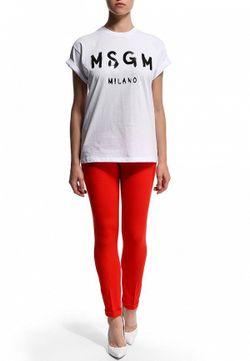 Брюки MSGM                                                                                                              красный цвет