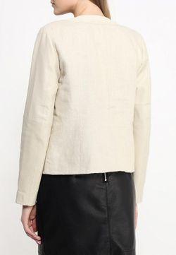 Куртка Кожаная Naf Naf                                                                                                              бежевый цвет