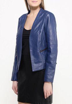 Куртка Кожаная Naf Naf                                                                                                              синий цвет