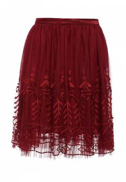 Юбка Naf Naf                                                                                                              красный цвет