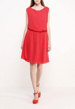 Платье Naf Naf                                                                                                              красный цвет