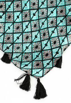 Платок Naf Naf                                                                                                              Бирюзовый цвет