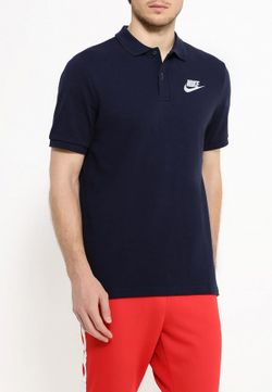 Поло Nike                                                                                                              синий цвет