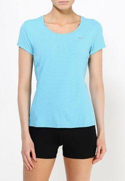 Футболка Спортивная Nike                                                                                                              голубой цвет