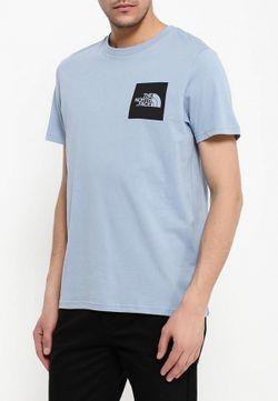 Футболка North Face                                                                                                              голубой цвет