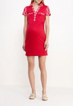 Платье One+One                                                                                                              красный цвет