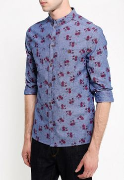 Рубашка People                                                                                                              синий цвет