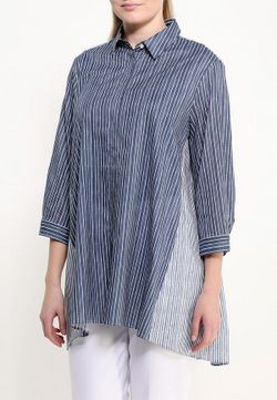 Рубашка Persona by Marina Rinaldi                                                                                                              синий цвет