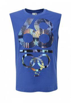 Майка Спортивная Puma                                                                                                              синий цвет