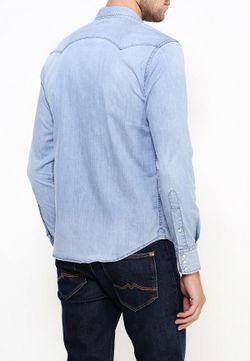 Рубашка Replay                                                                                                              голубой цвет