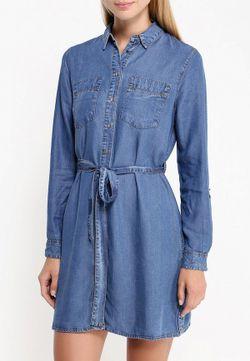 Платье Джинсовое River Island                                                                                                              синий цвет
