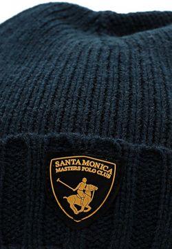 Шапка Santa Monica Polo Club                                                                                                              синий цвет