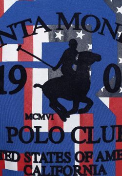 Футболка Santa Monica Polo Club                                                                                                              синий цвет