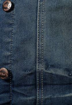Куртка Джинсовая Sela                                                                                                              синий цвет