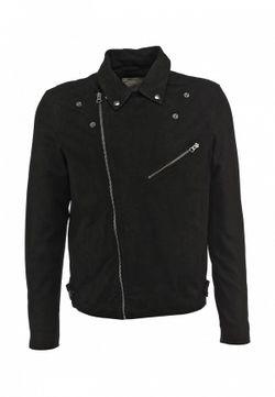 Куртка Кожаная Selected Homme                                                                                                              черный цвет