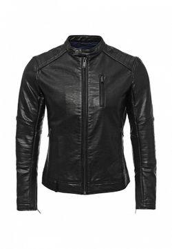 Куртка Кожаная Sisley                                                                                                              чёрный цвет