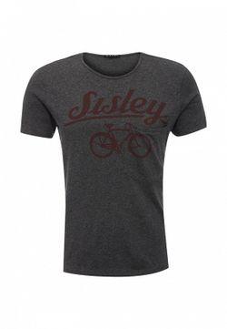 Футболка Sisley                                                                                                              серый цвет