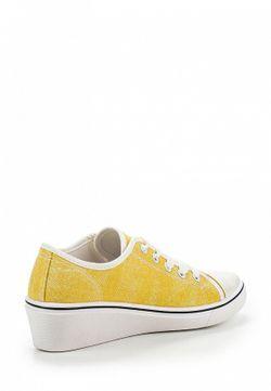 Кеды На Танкетке Sinly                                                                                                              желтый цвет