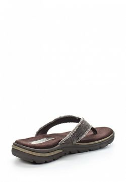 Шлепанцы Skechers                                                                                                              коричневый цвет