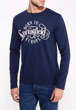 Лонгслив Springfield                                                                                                              синий цвет