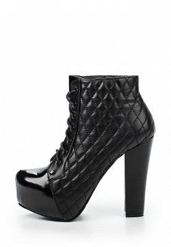 Ботильоны Style Shoes                                                                                                              чёрный цвет
