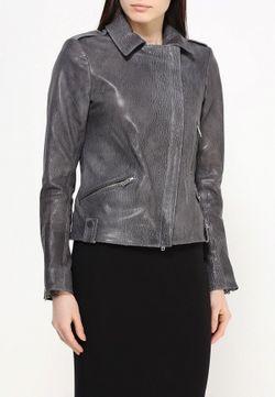 Куртка Кожаная Steven-K                                                                                                              серый цвет