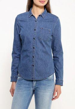 Рубашка Джинсовая Tommy Hilfiger Denim                                                                                                              синий цвет