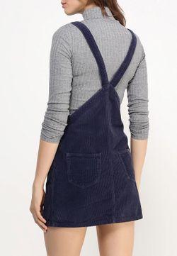 Платье Джинсовое Topshop                                                                                                              синий цвет