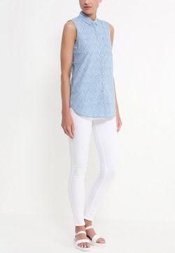 Рубашка Джинсовая Tommy Hilfiger                                                                                                              синий цвет