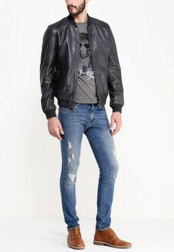Куртка Кожаная Trussardi Jeans                                                                                                              чёрный цвет
