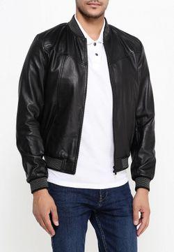 Куртка Кожаная Trussardi Jeans                                                                                                              черный цвет